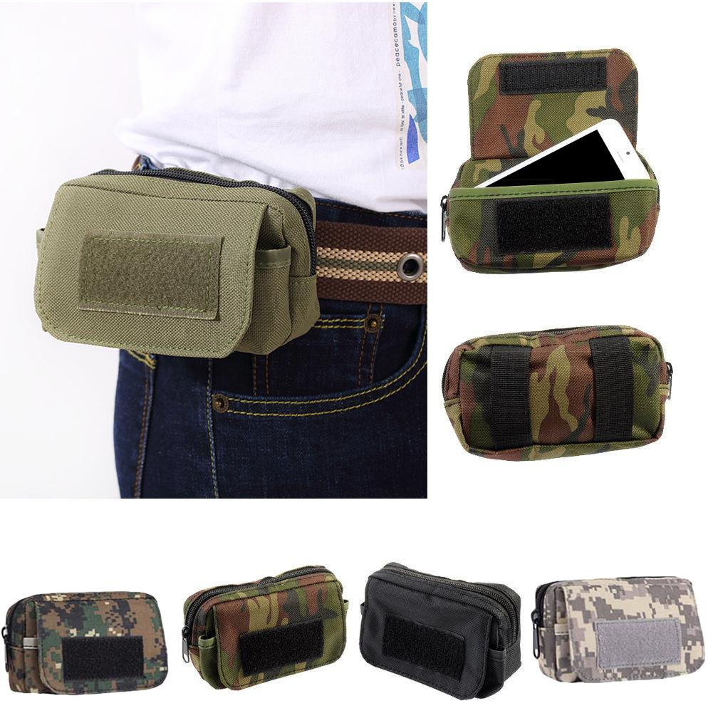 New Molle Camo Waist Bag Waterproof Phone Pouch Pocket Fanny Pack