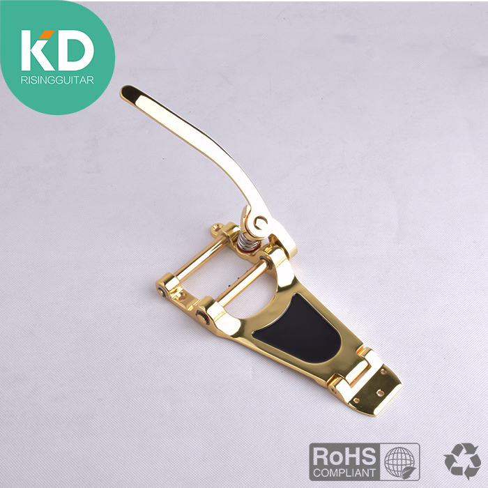 Gold Tremolo Vibrato Bridge Tailpiece Hollowbody Archtop Guitar Bridge guitar accessary floyd rose electric guitar duplex shake chrome plating silvery zinc alloy vibrato bridge system tailpiece vibrato device yy