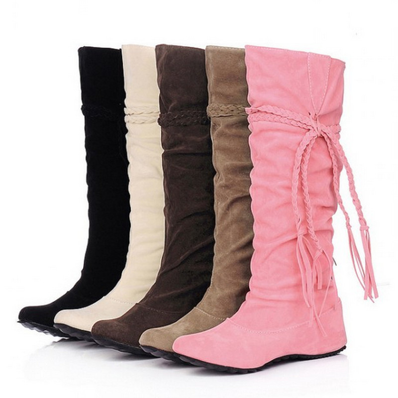 2015 big size 34 43 fashion boots tassel sweet style