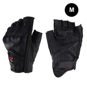 Image 5 - Motorcycle Gloves Leather Summer Breathable Half Finger Gloves Unisex Mitt Fingerless Glove For Men Women Scooter Moto Mitten