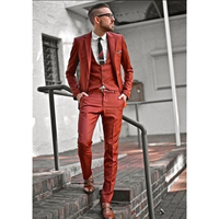 Custom Made Nuovo Stile Arancione Abiti Da Uomo Slim Fit Blazer Skinny 3 Pezzi Smoking Casual Prom/Partito Si Adatta Alle uomini (Jacket + Vest + Pants) FA760