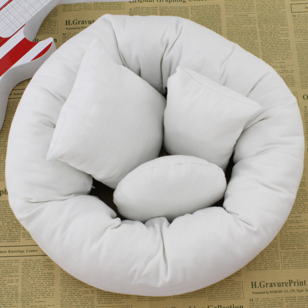 4PCS/Set Newborn Photography Pillow Basket Filler Tool Baby Wheat Positioner Donut Posing Props beanbag Baby Cushion Pillow Ring