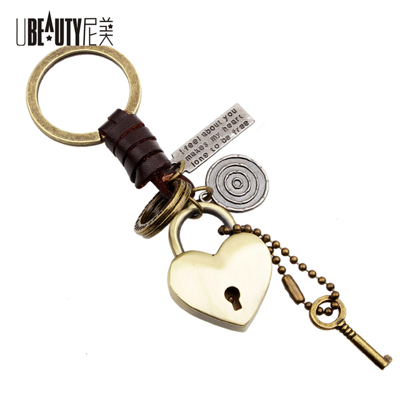 UBEAUTY Alloy Key Ring Heart Lock Keychain Lover Holiday Gifts Car Keyring Key Chain Chaveiro For Women Men Jewelry