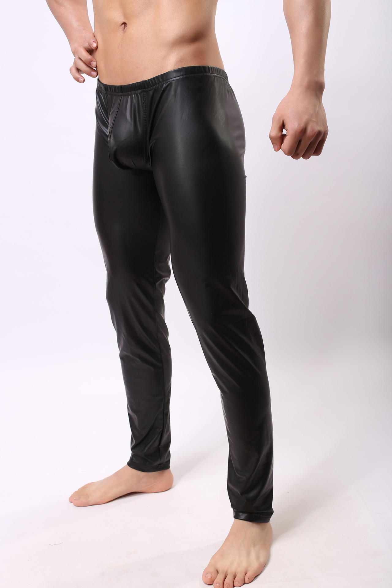 Hot Sexy Wet Look Mens Stretch to Fit Long Johns with ...