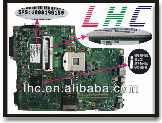 A505 motherboard V000198150 for toshiba motherboard INTEL HM55 6050A2338701-MB-A01 and 100% guarantee