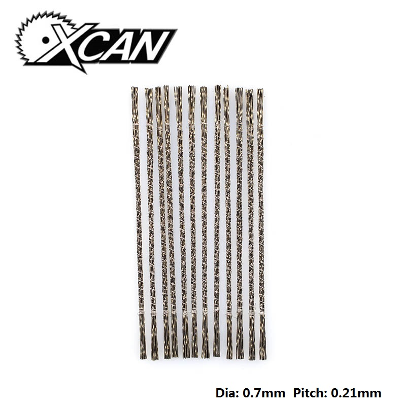 XCAN 144pcs  Scroll Saw Blades  With Spiral Teeth 1#  Wood Saw Blades For DIY Carving  Jewelry
