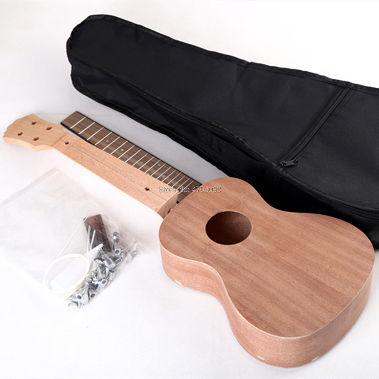 DIY Ukulele,Mahogany body,23 inches Acoustic Guitar,Rosewood Fretboard,Free Shipping(China)