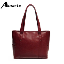 Women Leather Handbags Large-capacity Simple Shoulder Ladies Tote Bags Casual Shopping Travel Functional Handbag стоимость