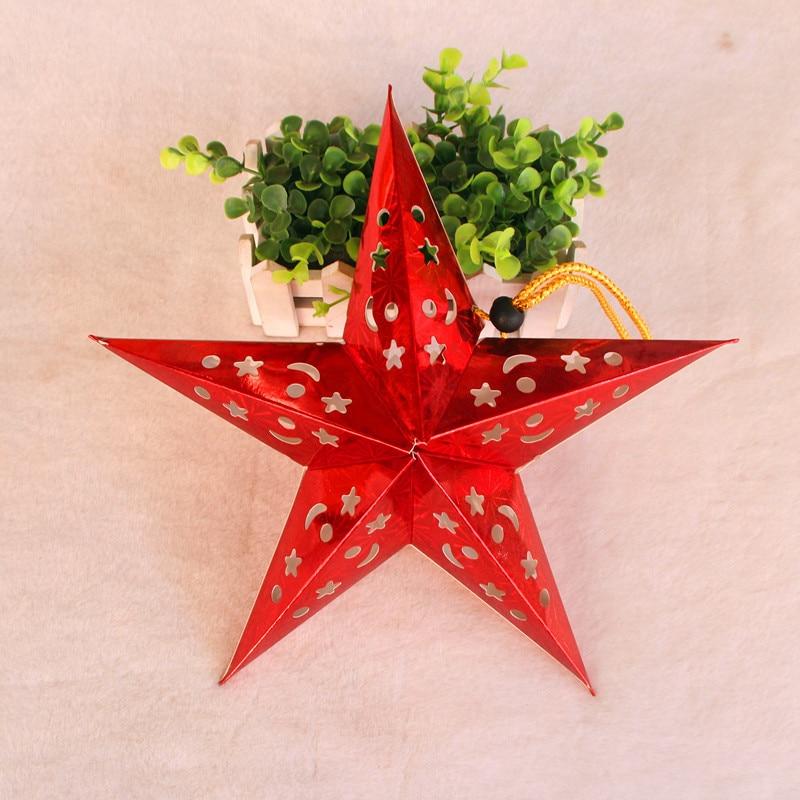 1PC 30cm-45cm-60cm glänsande stjärna Papper lampskärm lykta blomma - Semester och fester - Foto 4