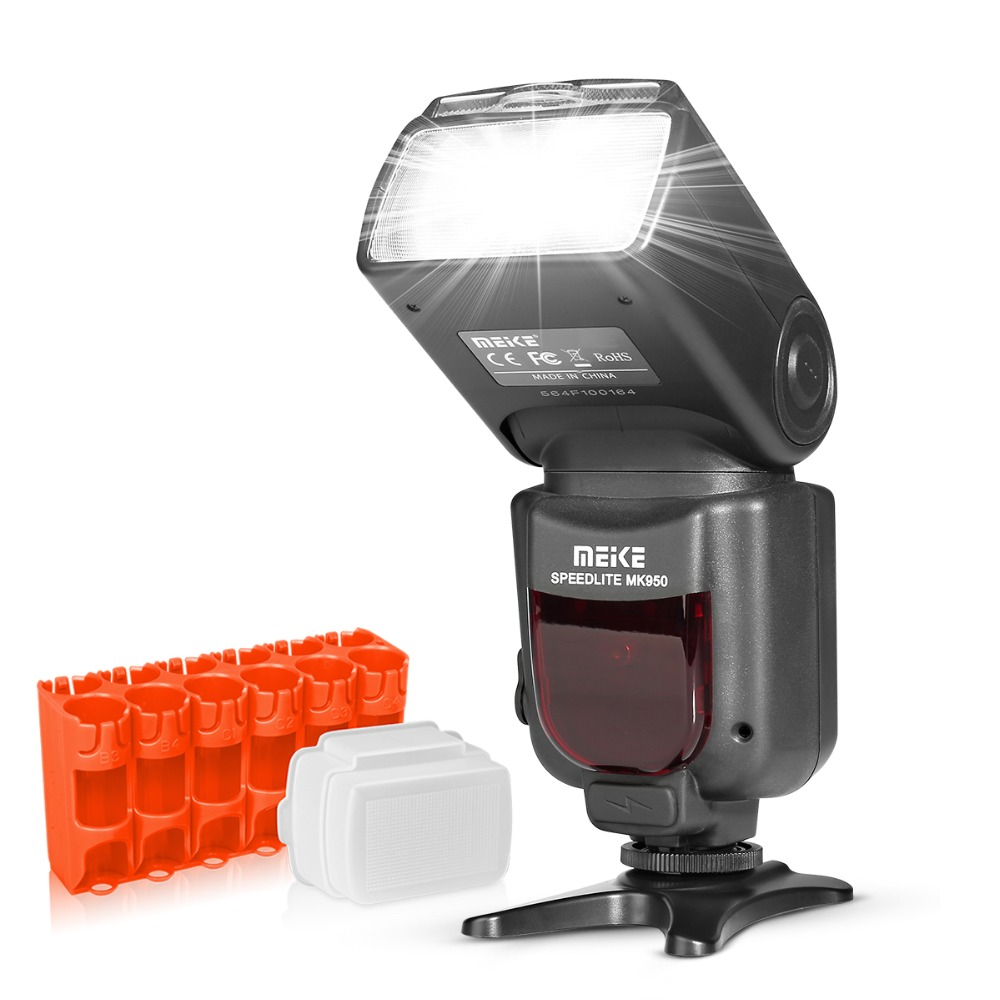 Meike MK950 i-TTL Speedlite 8 kirkkaan säätölamppu Nikonille D7100 D7000 D5300 D5200 D5100 D5000 D3100 D3200 D750 D600 D90 D80