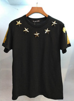 Mens T Shirts Fashion 2018 Summer Short Sleeve O Neck Camisetas Hombre Cotton 100% Golden Star 3D Printed Remeras Termicas B228
