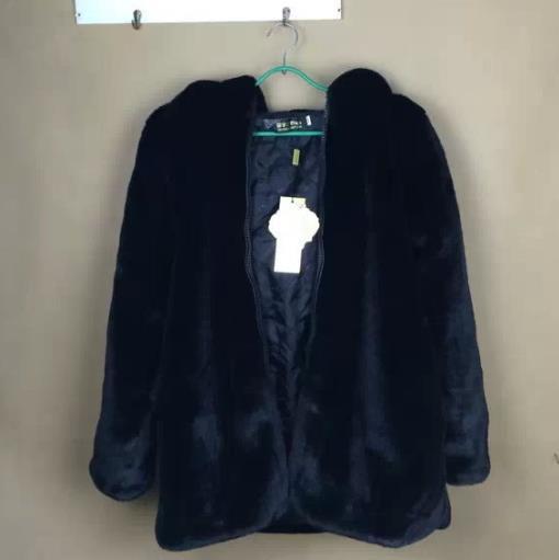 2018 Furry La Vison Taille Plus Veste Artificielle Outwear Femmes De Manteau Hiver Femme Fourrure Z26 Faux R4qd4w