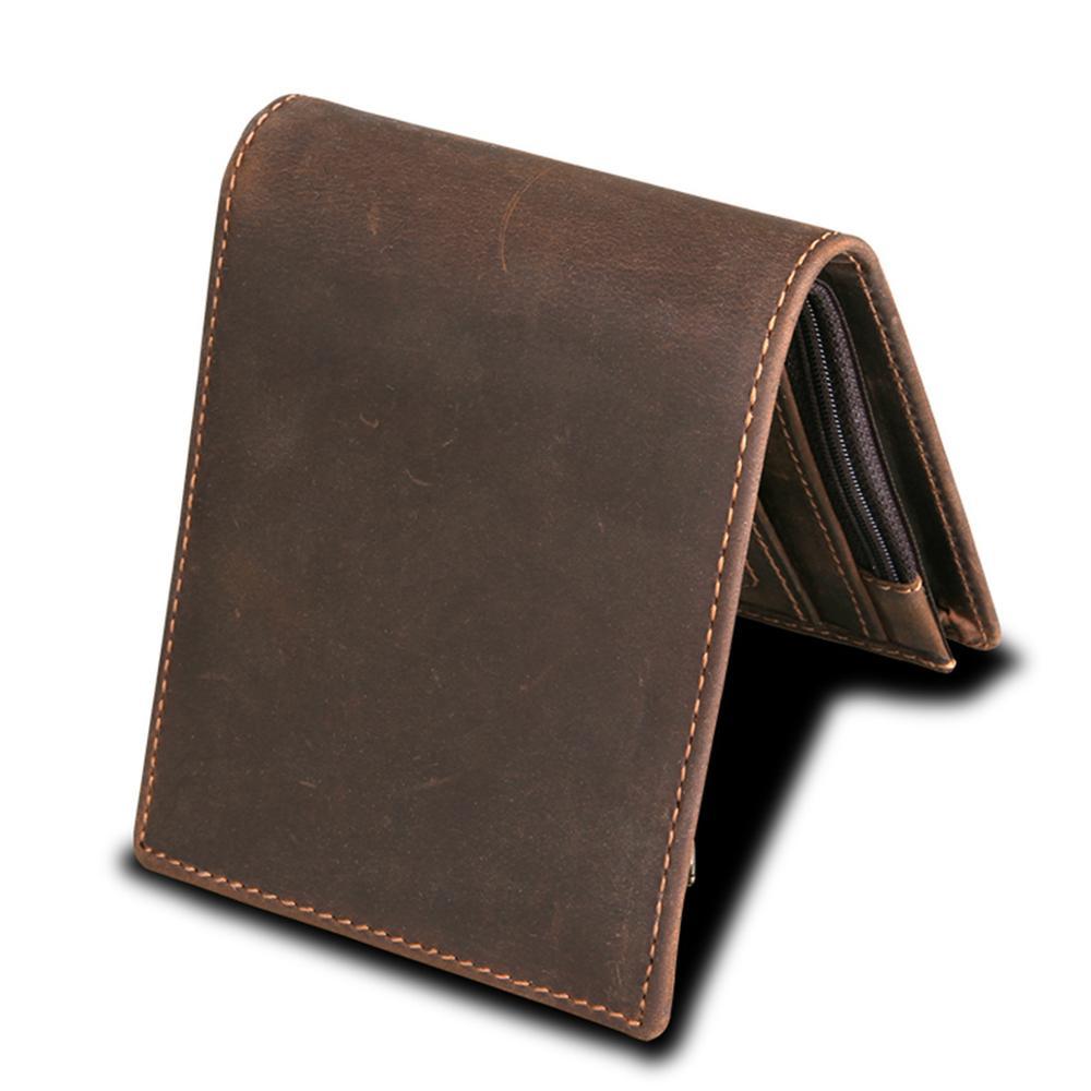 Мужские кошельки с блокировкой RFID, винтажный кошелек из натуральной коровьей кожи, мужской кошелек ручной работы на заказ, кошелек для монет по цене доллара, короткий кошелек carteira