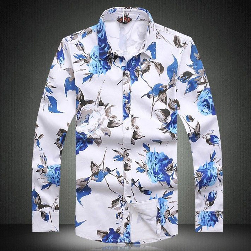Popular Floral Printed Shirt Men-Buy Cheap Floral Printed Shirt ...
