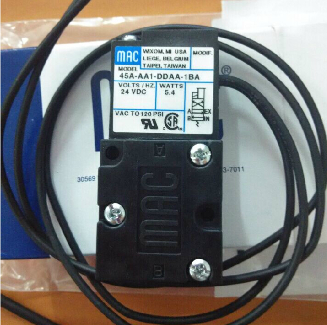 все цены на Brand new original American MAC high frequency electromagnetic valve 45A-AA1-DDAA-1BA DC24V онлайн
