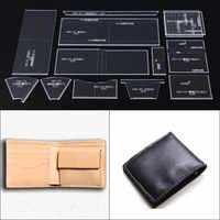 1 Set DIY Leather Handmade Craft Business short purse Sewing Pattern AcrylicTemplate Pattern