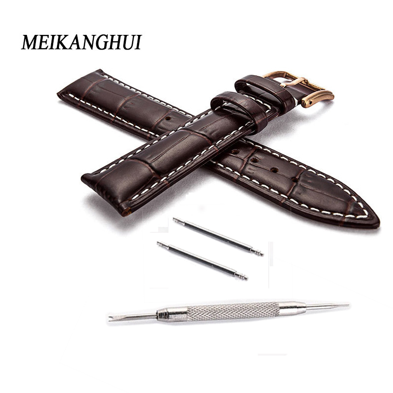 18 19 20 22 mm Genuine Leather Strap Band for Samsung Gear Frontier/Classic Smart watch bracelet Watchband Smartwatch wrist belt