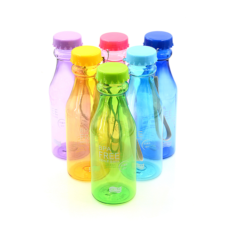 500ml Portable Plastic Sports Water Bottle Leak-proof Container Bottles For Outdoor Riding Traveling Climbing Camping