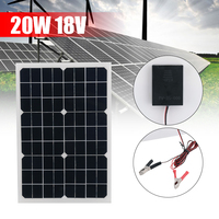 Outdoor Solar Panel 20W 18V Portable Solar cell Emergency Power Supply Solar Generator USB+DC Port Solar Panels Power Charger