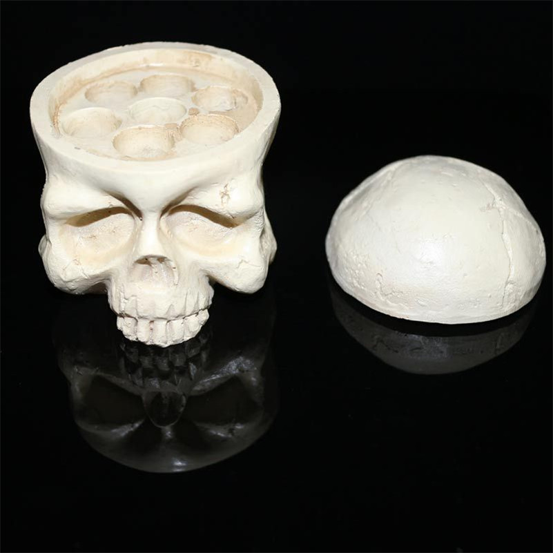 Tattoo Supply Accessories 1Pcs Resin Skull Head Type Tattoo Ink Cup Cap Holders 7 Holes Suit 15mm Ink Cups For Tattoo Body Art