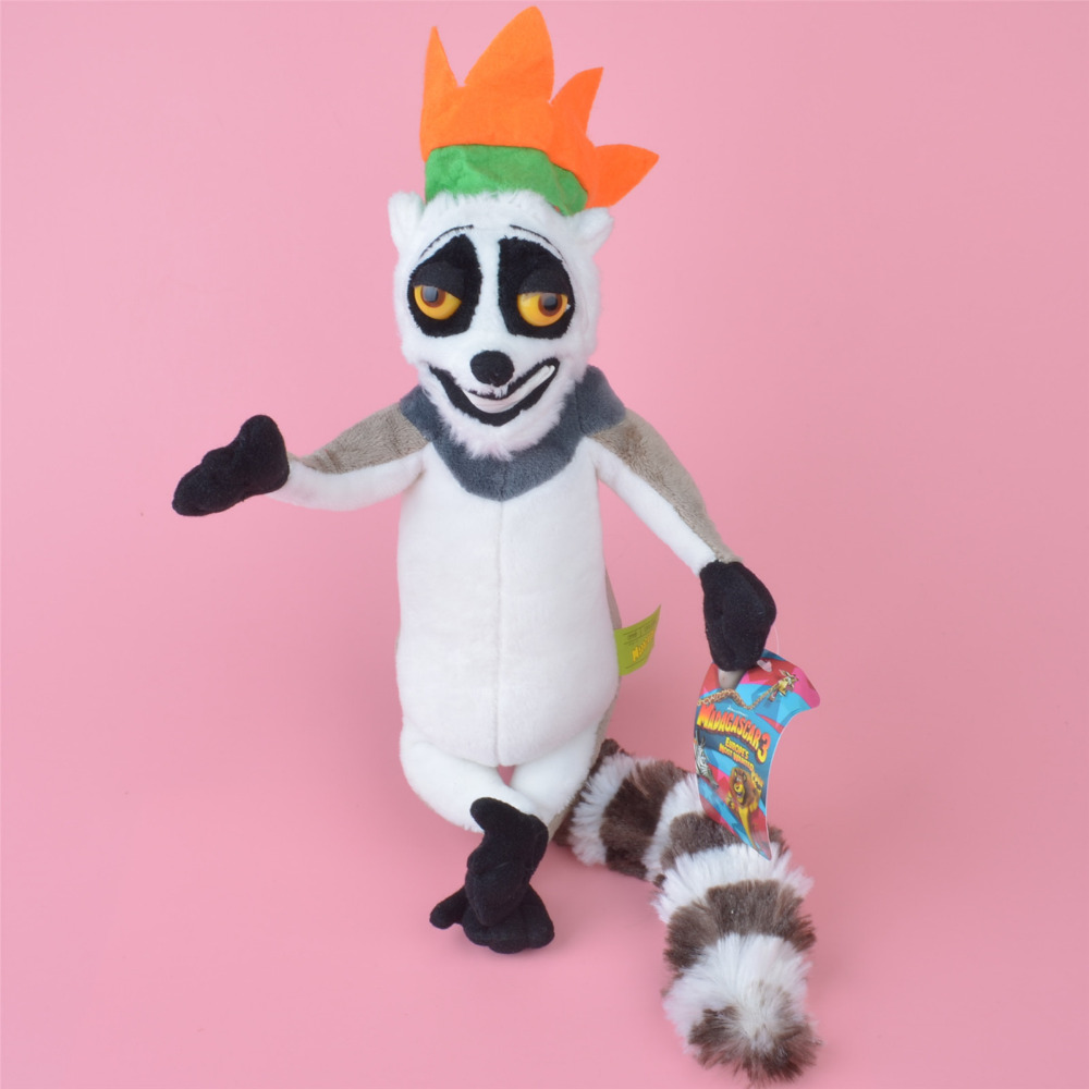 Madagascar King Julien XIII Plush Toy, Lemur Baby Gift, Kids Doll Wholesale with Free Shipping