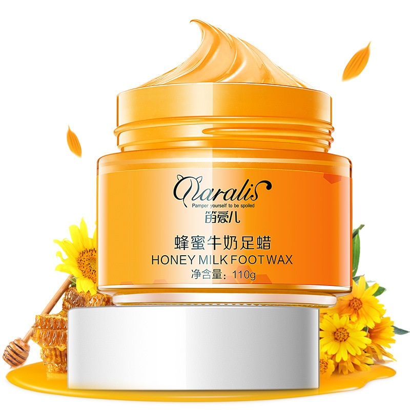 110g Honey Milk Paraffin Wax Peel Mask Peel Off Mask Exfoliating Calluses Hydrating Anti-aging Whitening For Hand Foot Toiletry