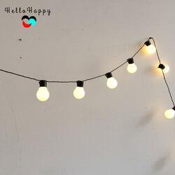 5,9 м 20 светодиодный светильник-гирлянда, уличный Сказочный светильник, s гирлянда G45, лампы для сада, дома, свадьбы, Рождества, декоративный св...