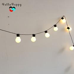 5,9 mt 20 LED String Licht Außen Lichterkette Girlande G45 Lampen Garten Hause Hochzeit Weihnachten Dekoration Lichter Kette Wasserdicht
