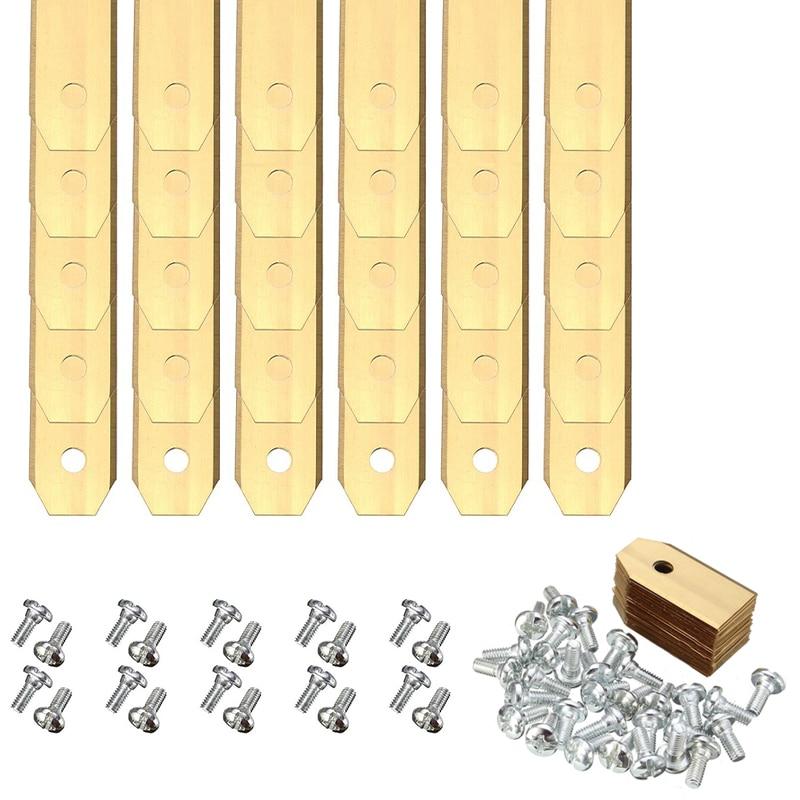 Lâminas de Cortador de Grama com Parafusos para Automower Pces Ouro Titanium Substituição Dwz 30 0.6mm