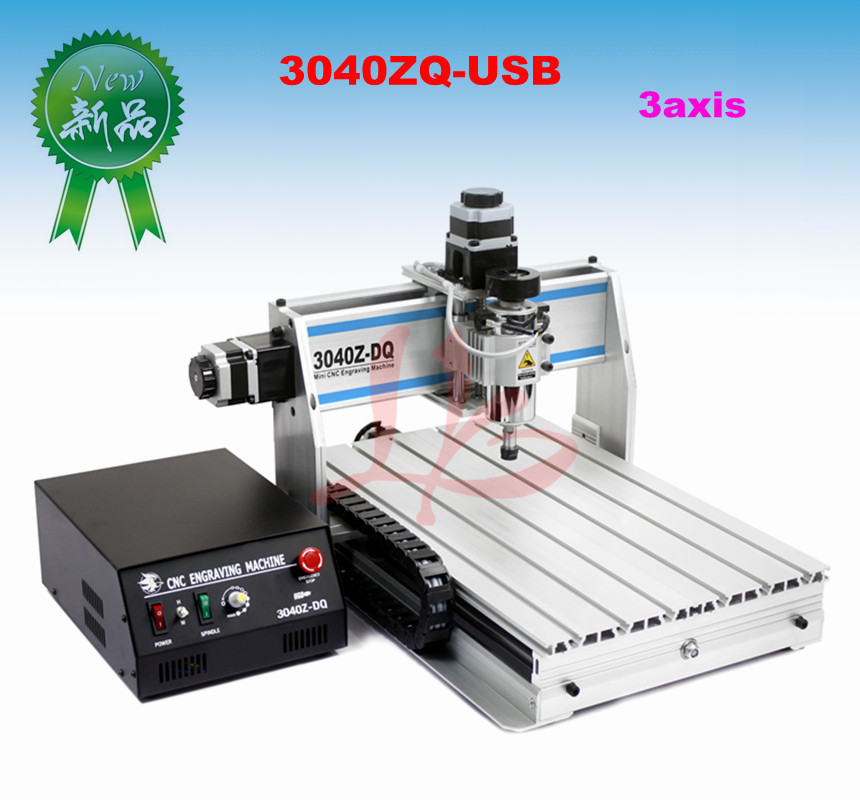 3 axis CNC router 3040 ZQ-USB, Woodworking Carving Machine with USB Port and ball screw cnc 5axis a aixs rotary axis t chuck type for cnc router cnc milling machine best quality