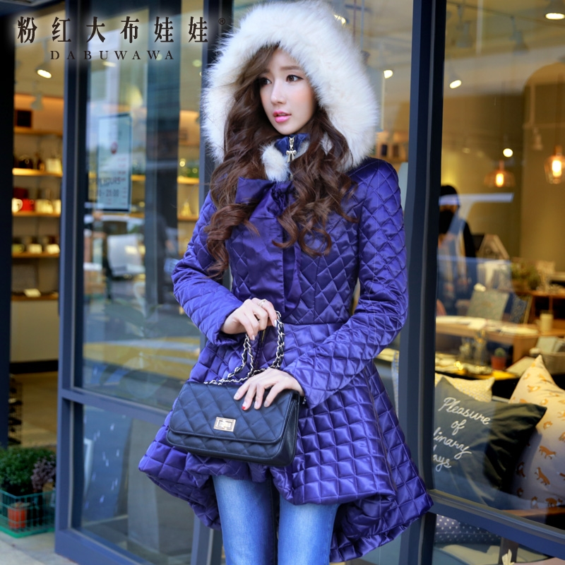 dabuwawa original women clothes new 2016 brand winter thickening slim long ladies women skirt hooded down coat parka wholesale