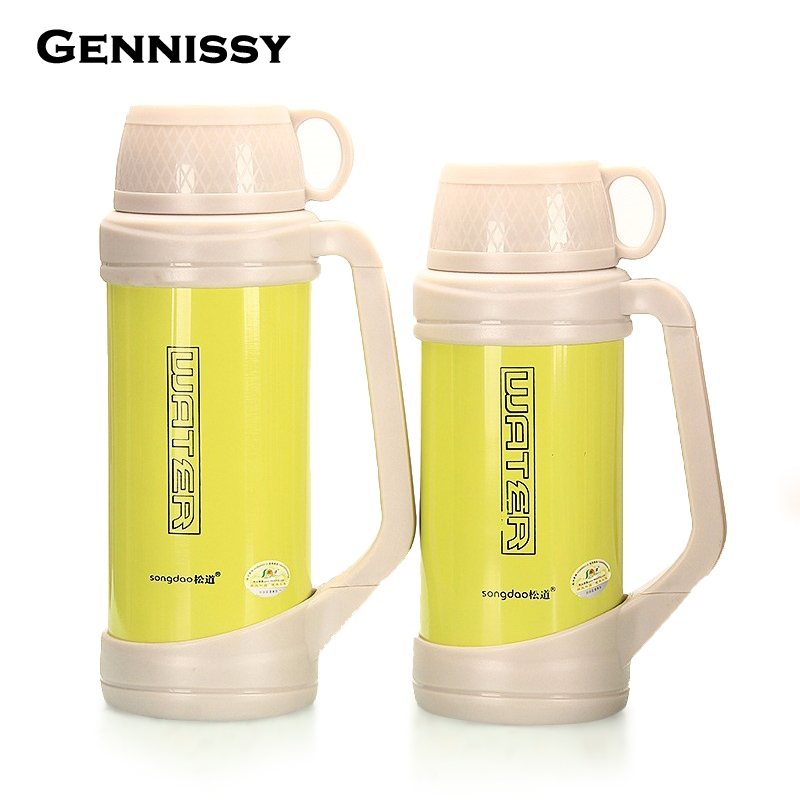 GENNISSY 2 2 5 L Thermos Cup Stainless Steel Travel kettle Thermos Insulated Mugs Thermo Hiking
