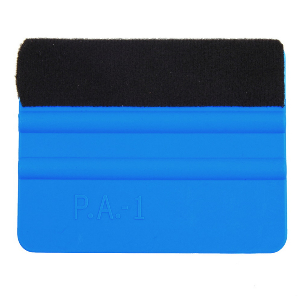 Image 4 - 1PCS Car Vinyl Film wrapping tools Blue Scraper squeegee with felt edge size 10cm*7cm Car Styling Stickers Accessories-in Scraper from Automobiles & Motorcycles