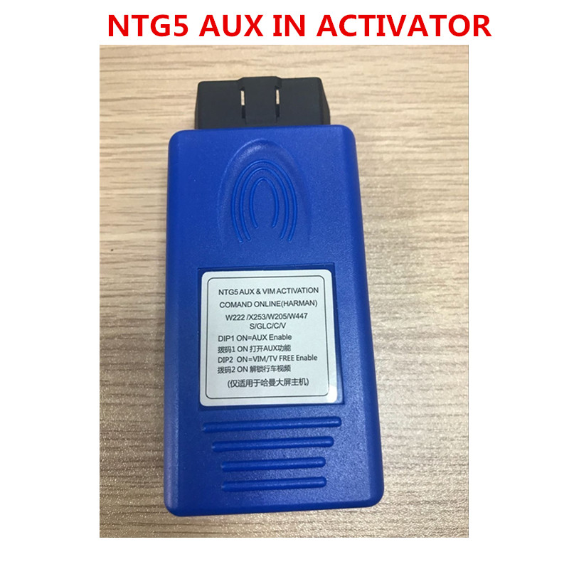 2019 for COMAND ONLINE NTG5 AUX IN ACTIVATOR C GLC S V W205 X253 W222 W447 TV FREE VIM-in Car Diagnostic Cables & Connectors from Automobiles & Motorcycles on