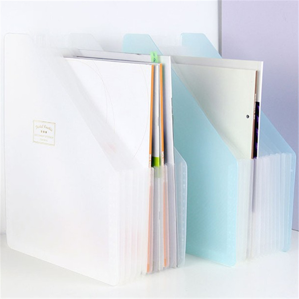Stand Pastel Cookie Expanding Wallet Student A4 Papers Office Finishing Bag Folder