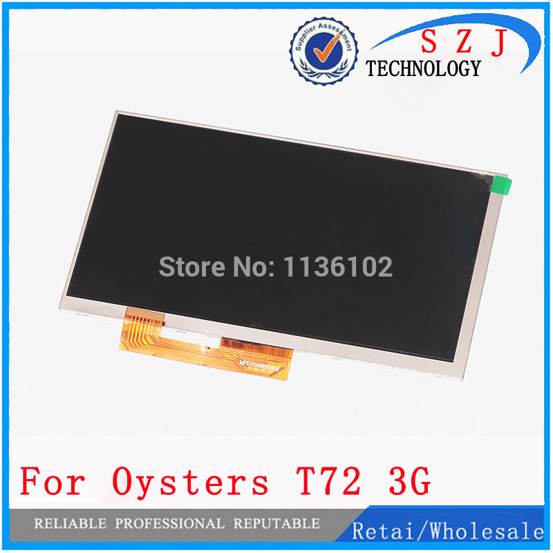 New 7'' inch LCD Display For Oysters T72 3G Tablet LCD Display 163*97mm 1024x600 30Pin Screen Panel Free Shipping new lcd display 34pin 1280x800 for 7 irbis tz791 4g tz791b tz791w tablet lcd panel free shipping