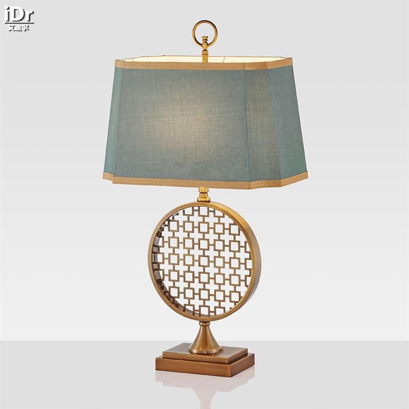 New Gold Stainless Steel Fashion Creative Modern American Minimalist  Bedroom Bedside Lamp Wedding Table Lamps OLU
