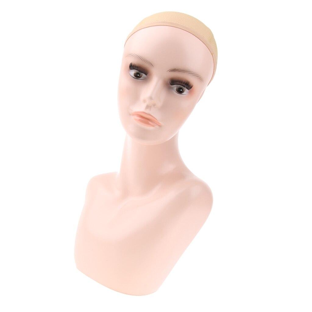 Femme Mannequin tête buste épaule pour perruques faisant perruque chapeaux collier présentoir Stand avec perruques Cap