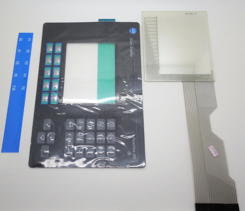 Image 1 Image 2 ALLEN BRADLEY 2711-B6 PANELVIEW 600 KEYPAD AND TOUCH GLASS REPLACEMENT 2711-B6 OVERLAY