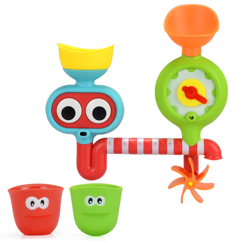 Baby Bath Toys Automatic Spout Play Taps Rotatable Shower Spray Creative Faucet Bath Spout Toys Kids Gift Swimming Bathroom Toys