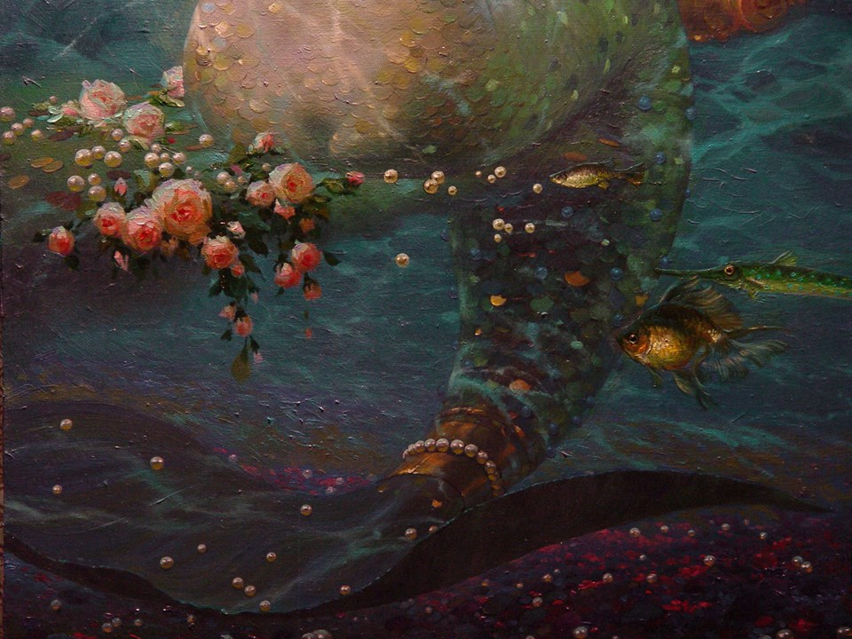 Free shipping,Victor Nizovtsev,mermaid,painting,HOME WALL ...