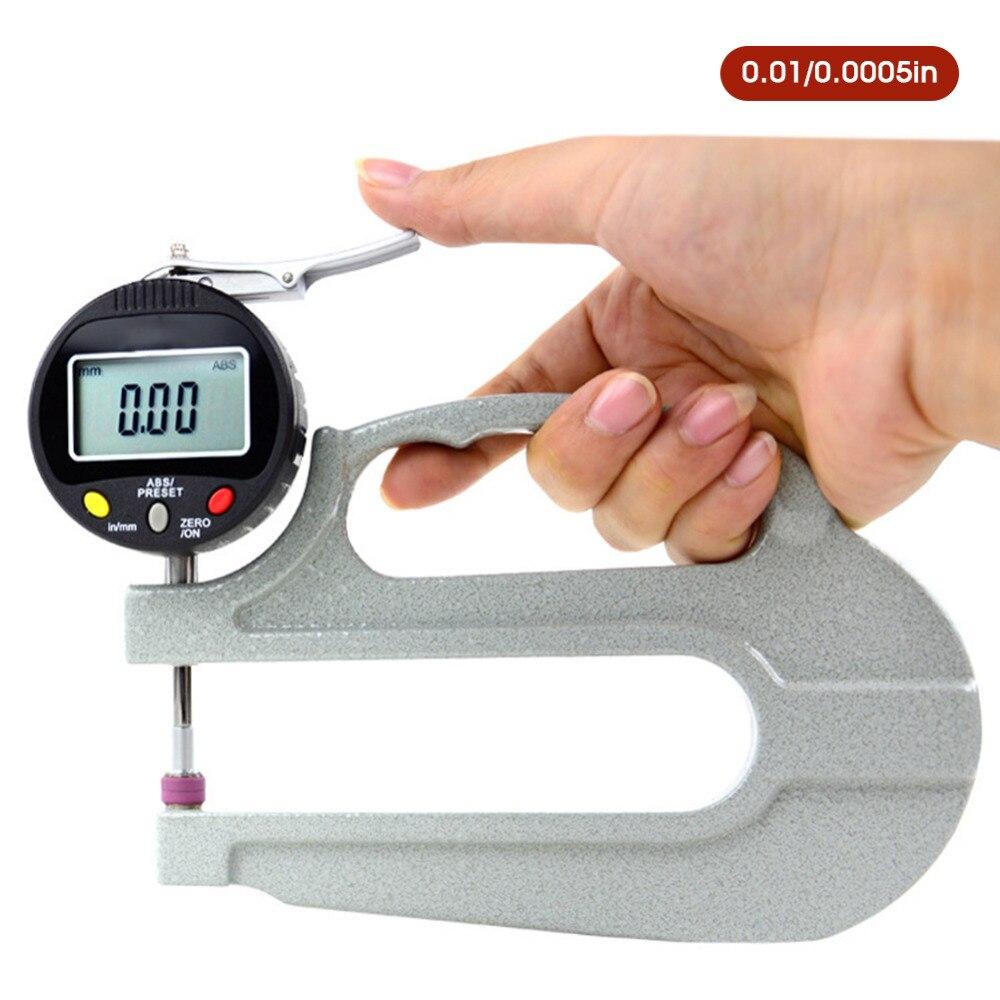0-10mm Digitale Dicke Gauge Meter Lcd Elektronische Messuhr Leder Dicke Messen Werkzeug Breite Messgeräte
