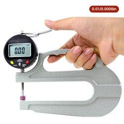 0-10mm cyfrowy miernik grubości LCD elektroniczny wskaźnik wybierania grubość skóry narzędzie do pomiaru szerokość przyrządy pomiarowe