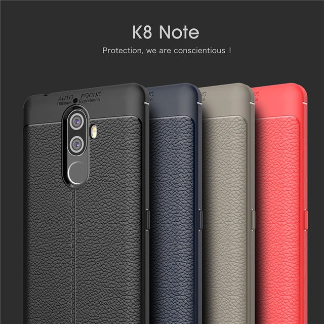 official photos 96209 30511 US $3.18  For Lenovo K8 Note Case Luxury Leather texture Soft Silicone  Protective back cover case for Lenovo K8Note full cover phone shell-in  Fitted ...