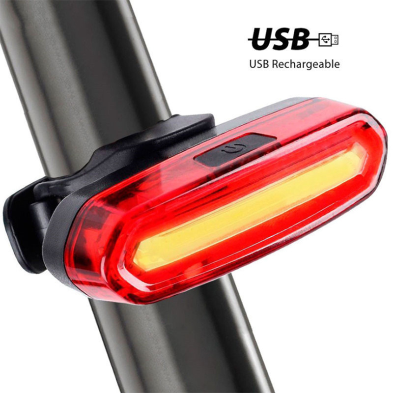 Bike Bicycle Lamp Rechargeable LED USB COB Mountain Bike Tail Light Taillight MTB waterproof Safety Warning Bicycle Rear Light(China)