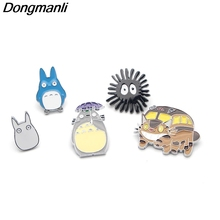 DMLSKY 1 Pc Anime Cute Totoro Enamel Pins and Brooch Backpack Badge Clothes brooch kis pins shirt Collar Pin jewelry M2419