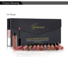 12 Pieces/set Makeup Matte Lipstick Kit Long Lasting Lip Gloss Set Waterproof Women Gift Lips Make up Beauty Cosmetics Pigments
