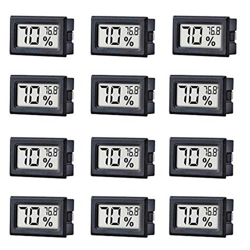 12 Pack Mini Kecil Elektronik Digital Suhu Kelembaban Meter Gauge Indoor Thermometer Hygrometer LCD Display Suhu