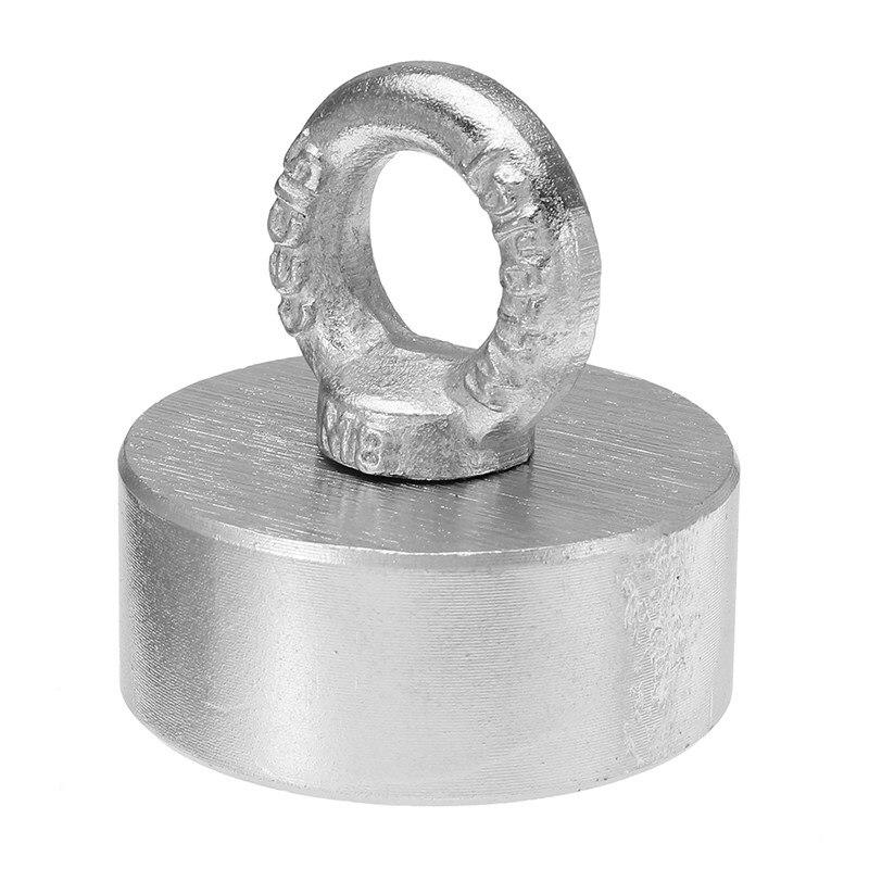 60x25mm 300 kg Néodyme Récupération Aimant Détecteur De Métal avec Poignée Ringscrew Haute Qualité Puissant Nouveau
