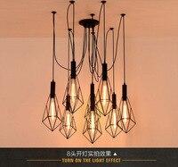 Vintage Loft Antique  Retro Edison Bulb Light Chandelier Adjustable DIY E27 Art Spider Ceiling Lamp Fixture Light